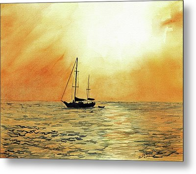 Golden Sunset Metal Print by Paul Temple