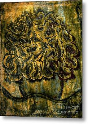 Golden Tapestry Metal Print by Jolanta Anna Karolska
