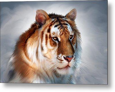 Golden Tiger Metal Print by Julie L Hoddinott