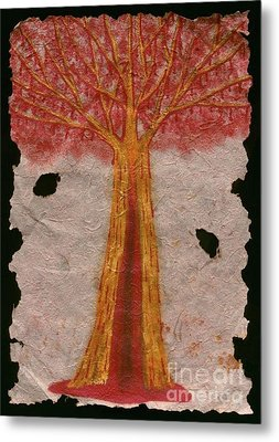 Golden Trees Crying Tears Of Blood Metal Print by Talisa Hartley