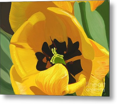 Golden Tulip Metal Print
