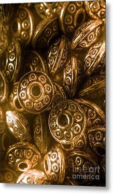 Golden Ufos From Egyptology  Metal Print