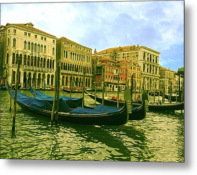 Metal Print featuring the photograph Golden Venice by Anne Kotan