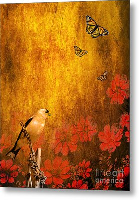 Golden Metal Print by Wingsdomain Art and Photography