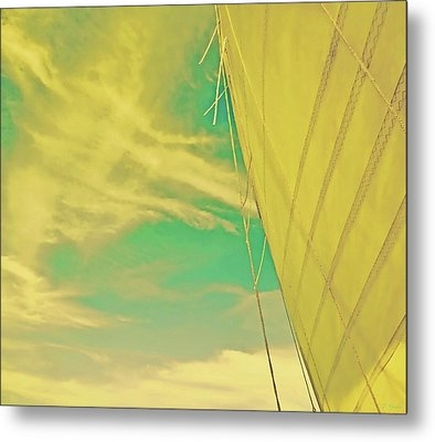 Goldenrod Sail Special Edition Metal Print