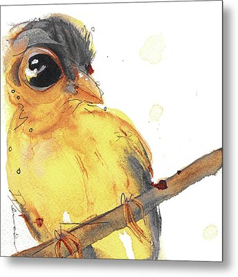 Metal Print featuring the painting Goldfinch by Dawn Derman