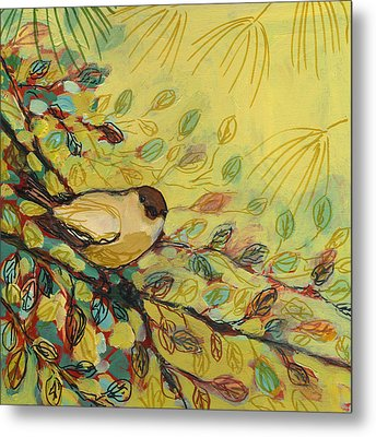 Goldfinch Waiting Metal Print