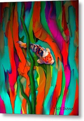 Goldfish World Metal Print by Nick Diemel