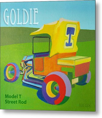 Goldie Model T Metal Print by Evie Cook