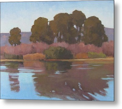 Metal Print featuring the painting Goleta Beach Slough by Jennifer Boswell