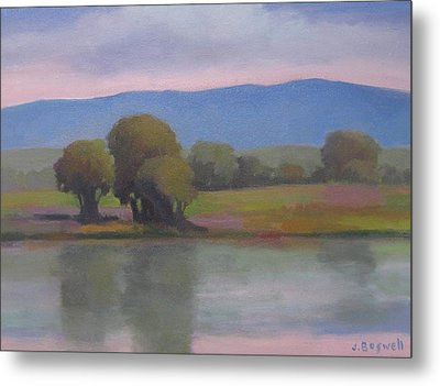 Metal Print featuring the painting Goleta Estuary by Jennifer Boswell