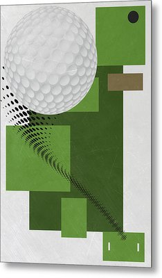 Golf Art Par 4 Metal Print