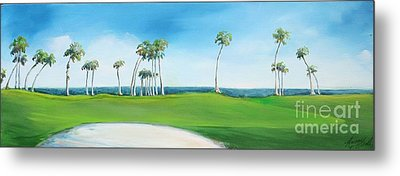 Golf Course Metal Print by Michele Hollister - for Nancy Asbell