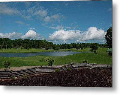 Golf Course The Back 9 Metal Print by Chris Flees