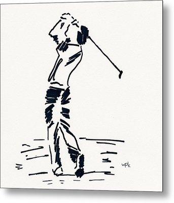 Golf I Metal Print by Winifred Kumpf