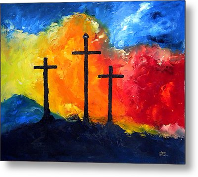 Golgotha Metal Print by David McGhee