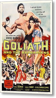 Goliath And The Barbarians 1959 Metal Print