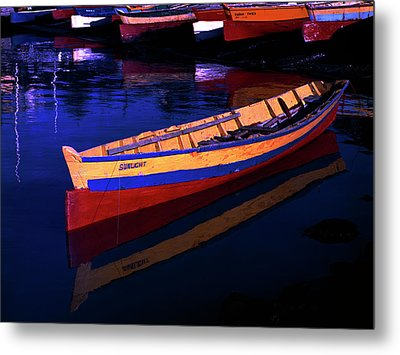 Gomier Canoe-st Lucia Metal Print by Chester Williams