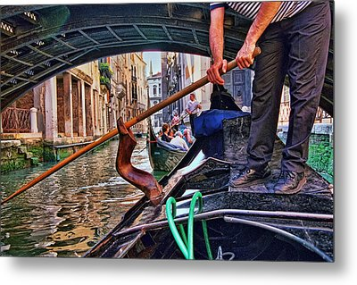 Metal Print featuring the photograph Gondola 2 by Allen Beatty