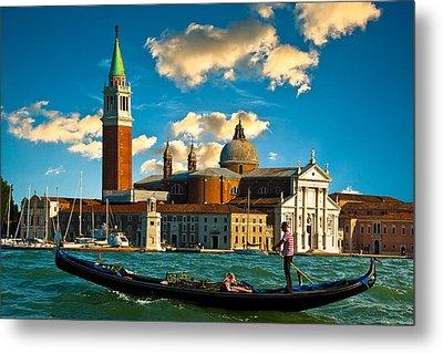Gondola And San Giorgio Maggiore Metal Print
