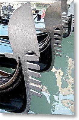 Gondola In Line Metal Print by Heiko Koehrer-Wagner