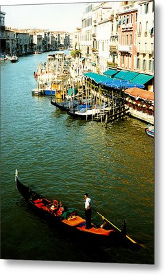 Gondola In Venice Italy Metal Print by Michelle Calkins
