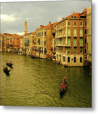 Metal Print featuring the photograph Gondola Life by Anne Kotan