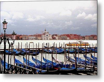 Gondolas In Venice Metal Print by Michael Henderson