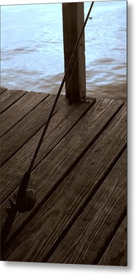 Metal Print featuring the photograph Gone Fishing by Karen Musick