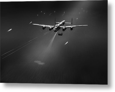 Metal Print featuring the photograph Goner From Dambuster J-johnny Bw Version by Gary Eason
