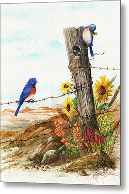 Gonna Find Me A Bluebird Metal Print by Marilyn Smith