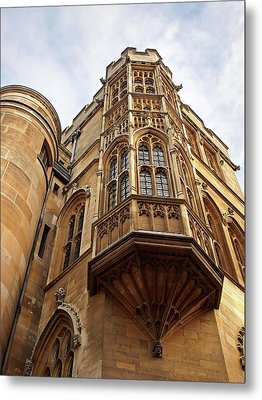 Metal Print featuring the photograph Gonville And Caius College Library Cambridge by Gill Billington