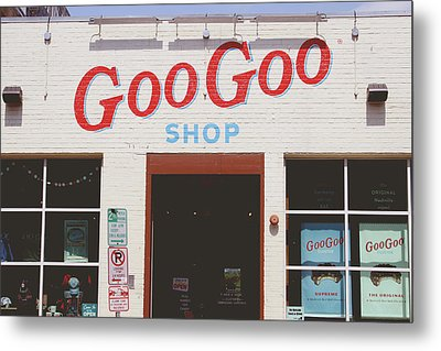 Goo Goo Shop- Photography By Linda Woods Metal Print by Linda Woods