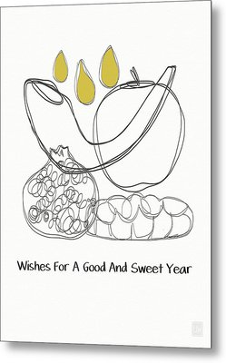 Good And Sweet Year- Art By Linda Woods Metal Print