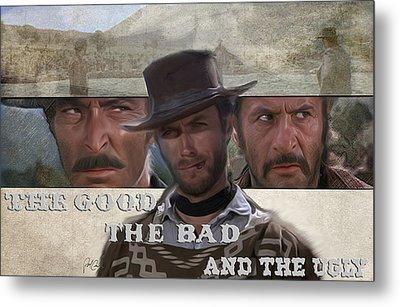 Good Bad Ugly Metal Print by Paul  Cunard
