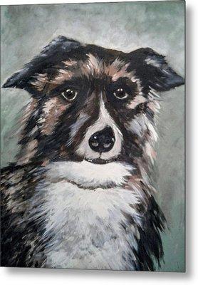 Good Dog By Christine Lites Metal Print by Allen Sheffield