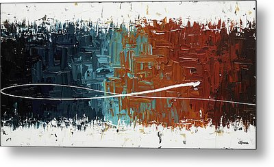 Metal Print featuring the painting Good Feeling - Abstract Art by Carmen Guedez