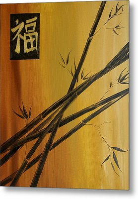 Good Fortune Bamboo 1 Metal Print by Dina Dargo