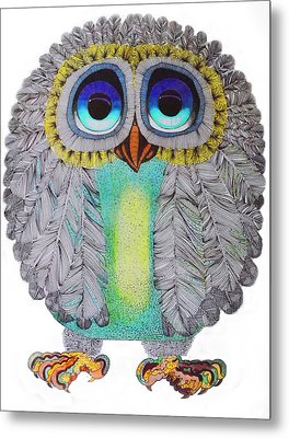 Good Luck Owl Metal Print by Hans Wolfgang Muller Leg