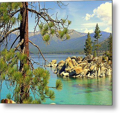 Metal Print featuring the photograph Good Morning From Lake Tahoe by Lynn Bawden