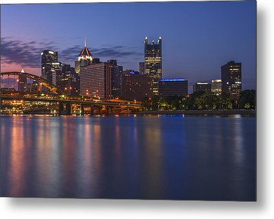 Good Morning Pittsburgh Metal Print by Rick Berk