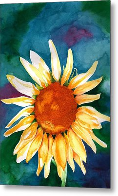 Metal Print featuring the painting Good Morning Sunflower by Sharon Mick