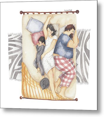 Good Night Sleep Tight Metal Print