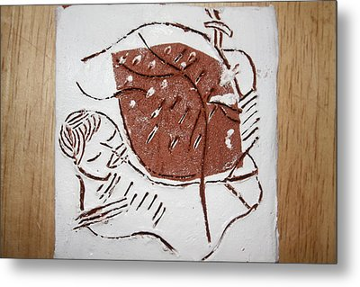 Good Shepherd - Tile Metal Print by Gloria Ssali
