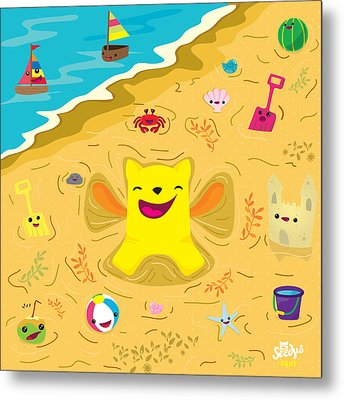 Good Vibes At The Beach Metal Print