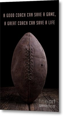Metal Print featuring the photograph Good Vs Great Football Coaches by Edward Fielding