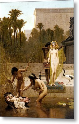 Goodall Frederik The Finding Of Moses Metal Print by Frederick Goodall