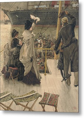 Goodbye On The Mersey Metal Print by James Jacques Joseph Tissot