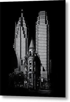 Gooderham Flatiron Building And Toronto Downtown No 2 Metal Print by Brian Carson