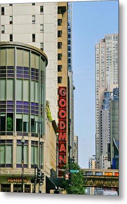 Goodman Memorial Theatre Chicago Metal Print by Christine Till